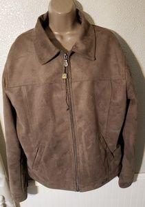 R Rosso men's suede Italian jacket sz xxl, fits xl